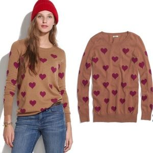 Wallace Madewell Caramel Heartstripe Sweater M